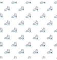 Skates pattern cartoon style vector image vector image