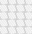 Slim gray rounded triangles turning vector image vector image