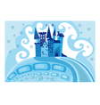 snow princess castle vector image