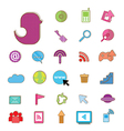 Social color Media color Icon Network vector image vector image