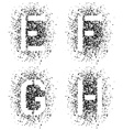 stencil angular spray font letters E F G H vector image vector image
