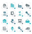 stylized real estate and building icons vector image vector image