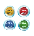 Summer sale circle stickers in a bubble vector image vector image