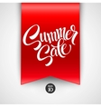 Summer sale Ribbon label vector image