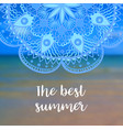 the best summer banner with mandala vector image