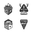 travel badges outdoor activity logo collection vector image
