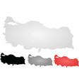 turkey maps vector image vector image
