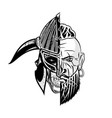 viking skull 0003 vector image vector image