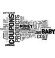 where to find cost off coupons for baby products vector image vector image