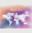world map in white color and grid background vector image vector image