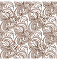 zentangle wavy seamless pattern vector image vector image