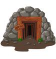 Cartoon mine entrance vector image