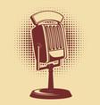 retro microphone on vintage background design vector image