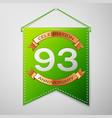 ninety three years anniversary celebration design