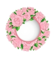 wreath of roses banner vector image