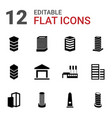 12 district icons vector image vector image