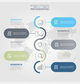 5 steps modern and clean business infographics vector image
