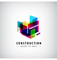 Abstract geometric construction structure vector image