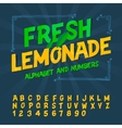 Alphabet and numbers - Fresh lemonade
