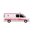 ambulance emergency medical car side view flat vector image vector image