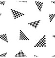 arrow icon seamless pattern background business vector image vector image
