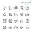 assessment line icons vector image vector image