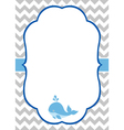 Baby Boy Invitation Card vector image vector image