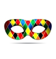 Beautiful Harlequin mask vector image vector image