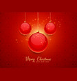 beautiful red christmas balls background vector image vector image