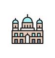 Berlin cathedral landmark german flat color