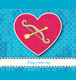 bow and arrows inside heart composition vector image