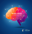 Brain idea geometric info graphics design vector image vector image
