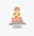 buddha figure from korean buddhist mythology vector image vector image