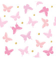 butterflies with glitter polka dots seamless vector image vector image