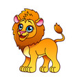 cartoon lion isolated vector image vector image