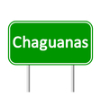 Chaguanas road sign vector image vector image