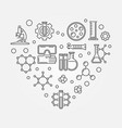chemistry heart creative symbol chemistry vector image