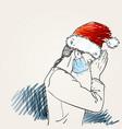 christmas and coronavirus people new normal vector image