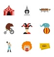 Circus performance icons set flat style vector image vector image