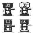 coffee machine icons vector image