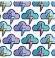 color cloud and thunder storm weather background vector image vector image