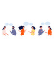 communication concept flat people chatting vector image vector image