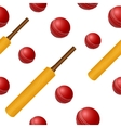 Cricket ball bat seamless backgroung vector image vector image