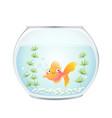 cute cartoon goldfish in a fishbowl vector image vector image