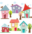 Cute Houses and Homes vector image vector image