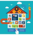display panel to control a smart house vector image vector image