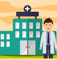 doctor physician staff professional hospital vector image vector image