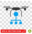 Drone Distribution Eps Icon vector image vector image
