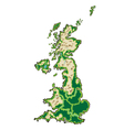 England map vector image vector image