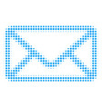 envelope halftone icon vector image